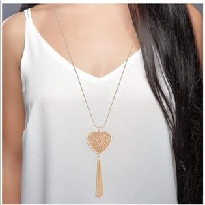Gorgeous new in box heart necklaces